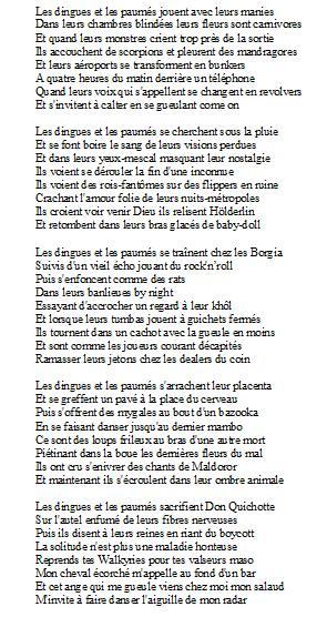 Lyrics Les dingues et les paumés